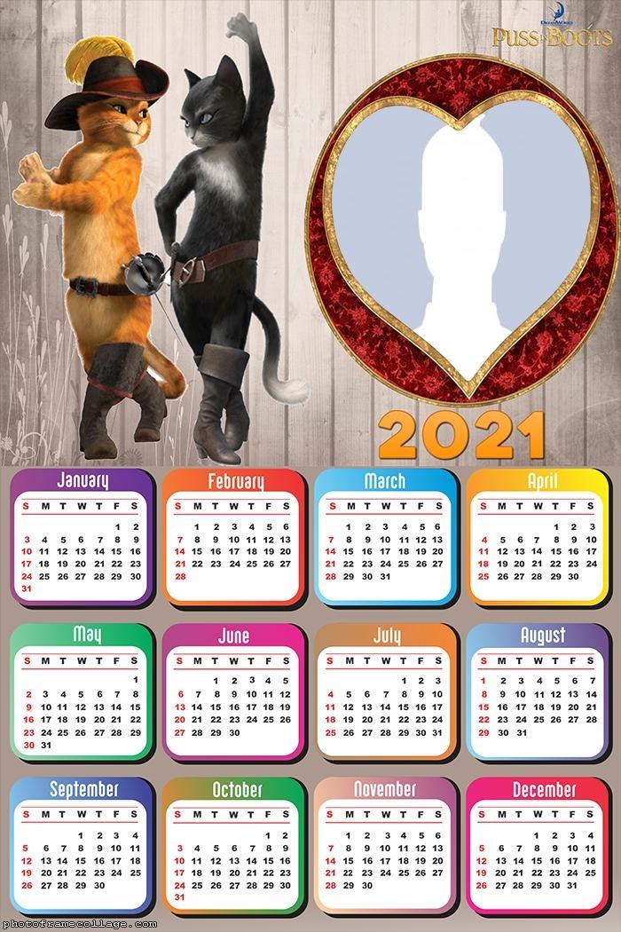 Calendar 2021 Puss in Boots