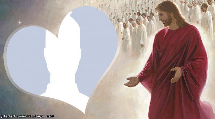 Jesus Heart Photo Montage