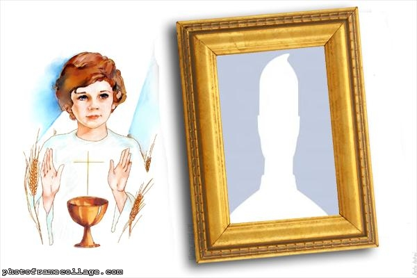 First Communion Photo Collage