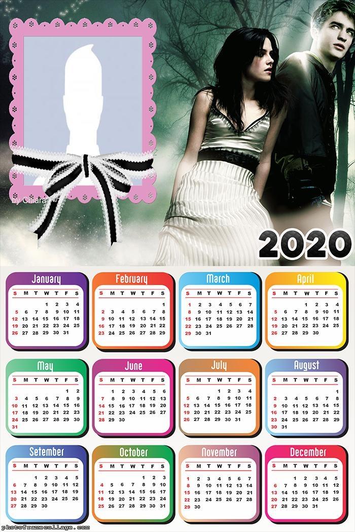 Bella e Edward Calendar 2020 Picture Collage