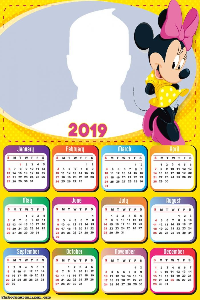 Minnie Yellow Dress Calendar 2019