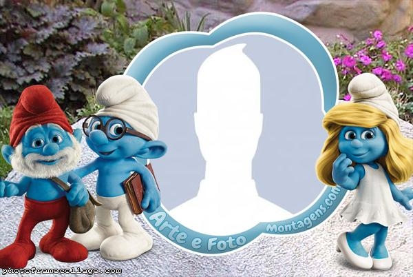 Smurfs Photo Collage