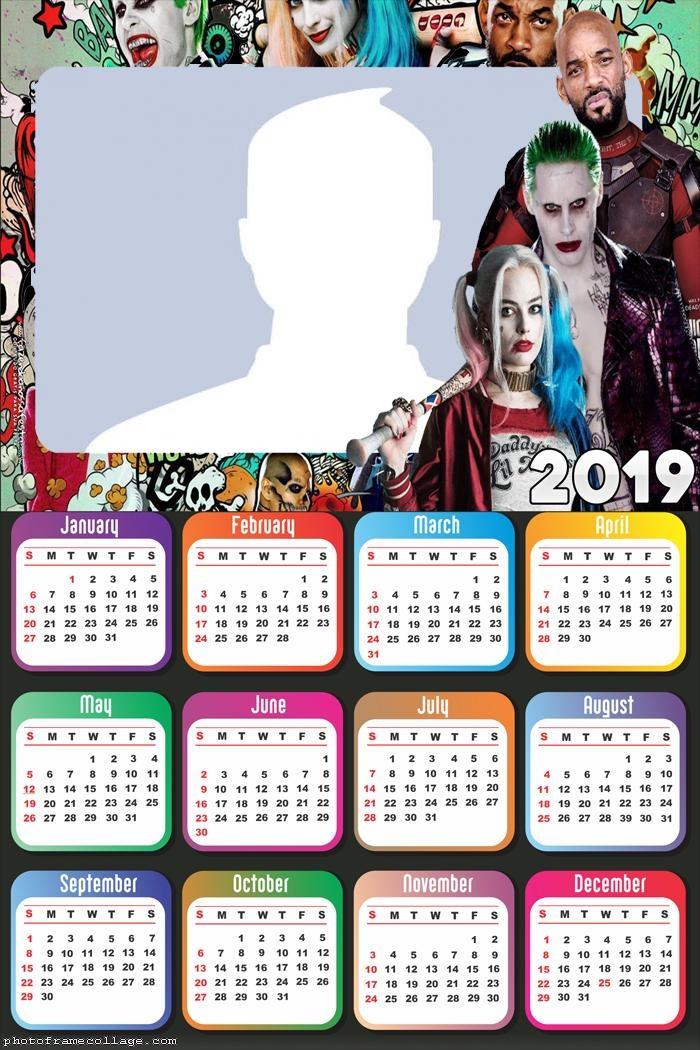 Suicide Squad Calendar 2019