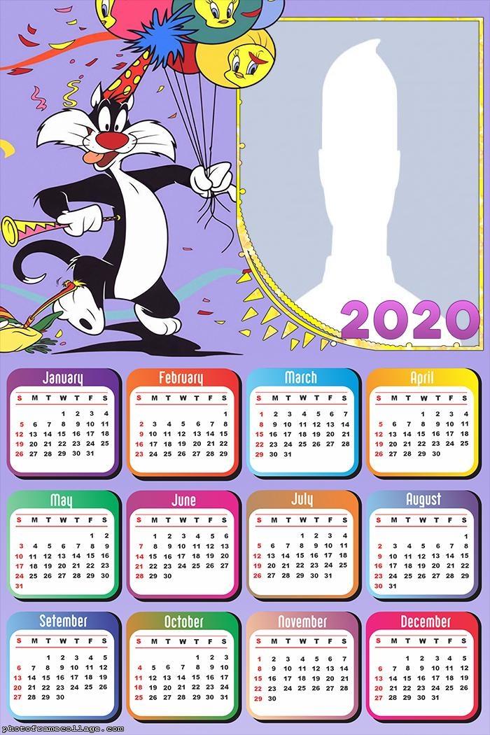 Silvestre Birthday Calendar 2020 Photo Collage