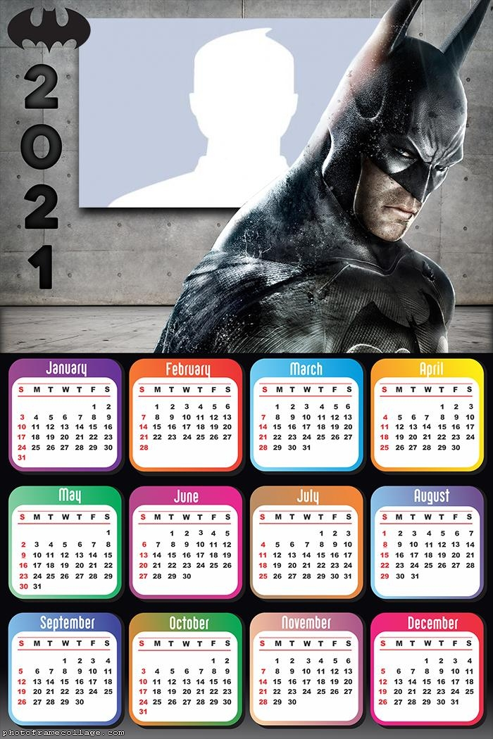 Calendar 2021 Batman Begins