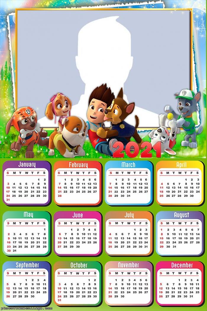 Calendar 2021 Paw Patrol Toys