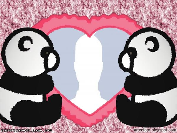 Pandas Couple Picture Collage