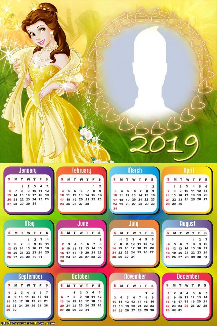 Belle Princess Calendar 2019