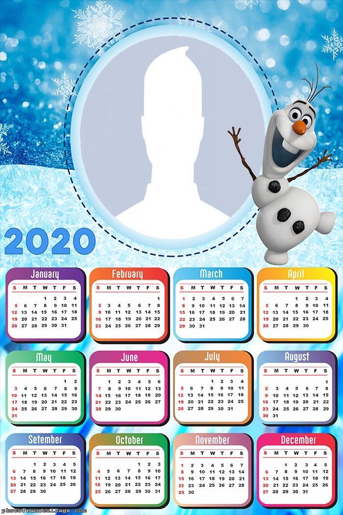 Olaf Calendar 2020 Frame Picture