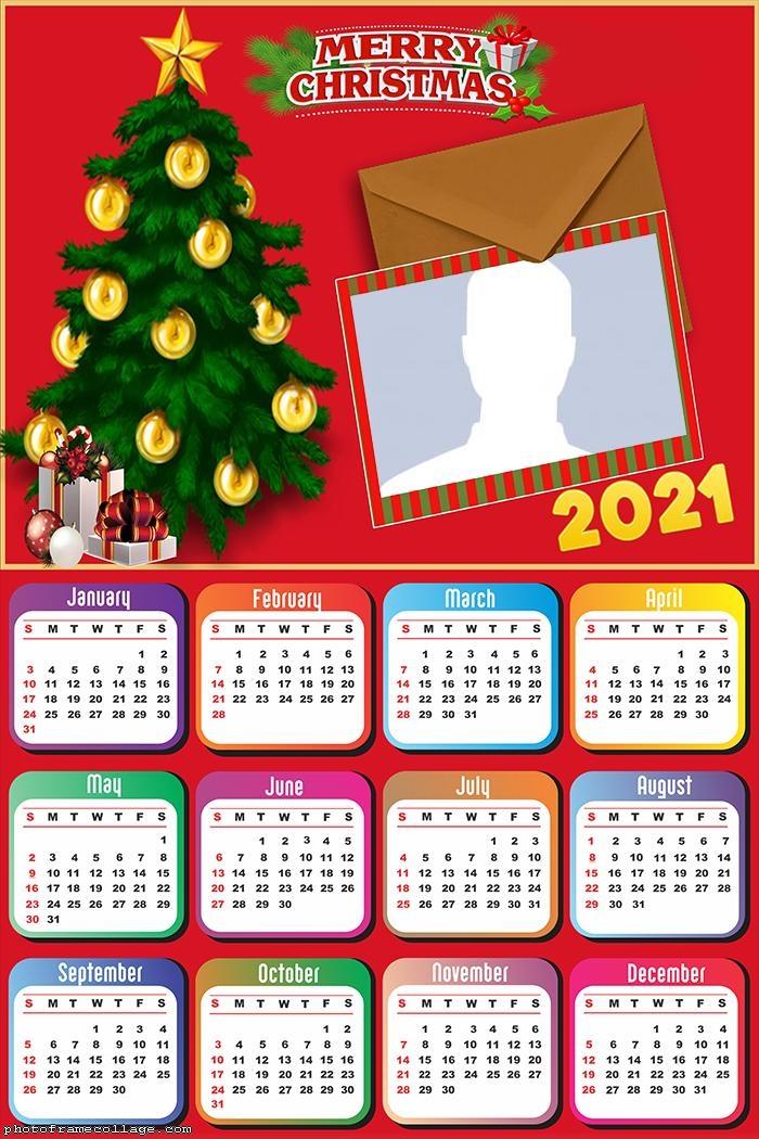 Calendar 2021 Christmas Card