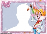 Rabbit Painter Photo Frame