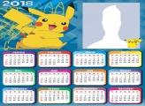 Calendar 2018 Pikachu