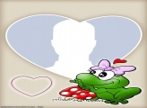 Toad in Love Photo Collage