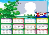 Calendar 2021 Santa Claus Cartoon