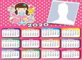 Frame Picture Circus Girl Calendar 2020