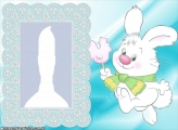 Childish White Rabbit Frame