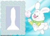 Childish White Rabbit Frame