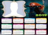 Brave Princess Merida Calendar 2019