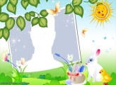Sunny Day on Easter Frame
