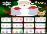 Santa Claus Cartoon Calendar 2021