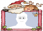 Santa Claus and Reindeer Make a Photo Collage Online