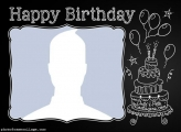 Chalkboard Happy Birthday Photo Collage