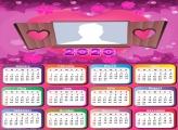 Calendar 2020 for Romantic Lovers