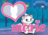 Photo Montage Cat Marie Heart