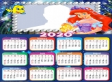 Princess Ariel Dress Calendar 2020