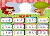 Calendar 2021 Little Red Riding Hood