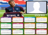 Calendar 2018 Neymar PSG