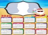 Santa Claus Beach Calendar 2020