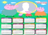Calendar 2018 Peppa Pig Family