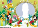 Mickey Christmas Photo Collage