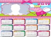 Fairy Peppa Pig Calendar 2019