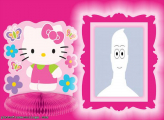 Photo Collage Free Hello Kitty and Flowers
