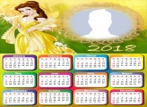 Calendar 2018 Belle Disney Princess