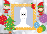 Christmas Elves Cartoon Picture Frame Collage