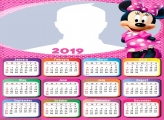 Minnie Pink Calendar 2019