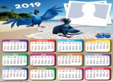 Blue Macaw Movie Rio Calendar 2019