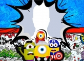 Minions Heroes Photo Collage