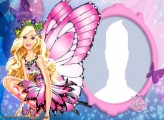 Barbie Butterfly Photo Collage