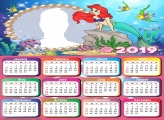 Ariel Little Mermaid Calendar 2019