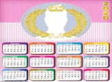 Royalty Frame for Girls Calendar 2020
