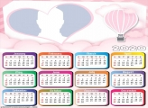 Pink Air Balloon Calendar 2020