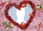 Heart and Birds Photo Collage