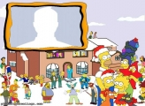 Simpsons Christmas Photo Collage