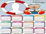 Sailor Teddy Bear Calendar 2019