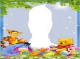 Pooh Bear Easter Photo Frame
