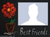 Best Friends Flowers Photo Montage